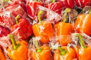 Plastic Wrapped Peppers